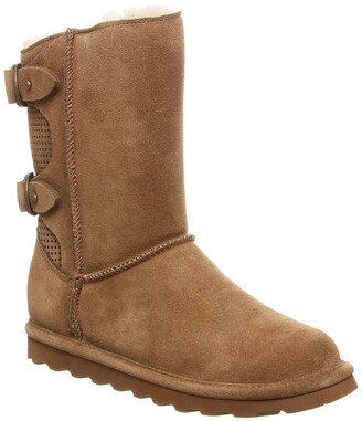 BearPaw Clara Suede Ankle Boot