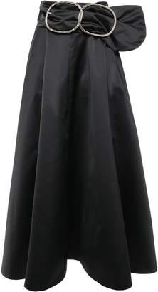 Nina Ricci Belted Duchesse-satin Maxi Skirt
