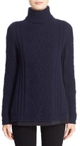 Moncler Women's Braid Knit Wool & Cashmere Turtleneck Sweater