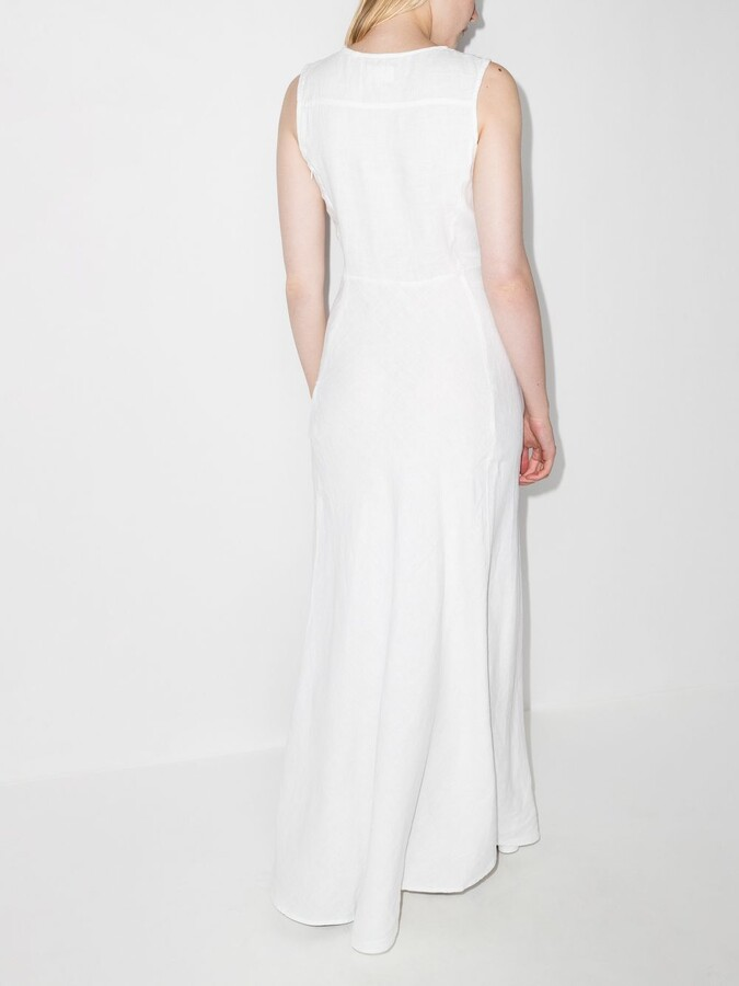 Thumbnail for your product : HONORINE White Lisette Linen Maxi Dress