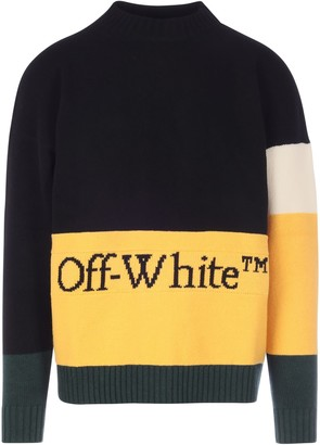 Off-White Color Block Off Crewneck