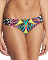 Trina Turk Africana Shirred-Side Printed Hipster Swim Bottom
