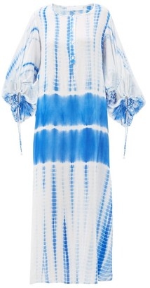 Binetti Love Good Vibrations Tie-dye Cotton Tunic - Womens - Blue Print