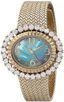 Burgi Women's BUR075BU Analog Display Quartz Gold Watch