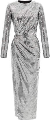Rasario Sequined Long Sleeve Gown