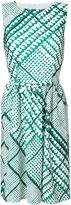 Oscar de la Renta embroidered flared dress