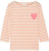 Chinti and Parker Printed Striped Cotton-jersey T-shirt - Orange