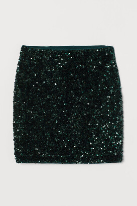 H&M Sequined Skirt - Green