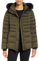 Andrew Marc Women's 'Kelly' Convertible Down Jacket With Genuine Fox Fur Trim