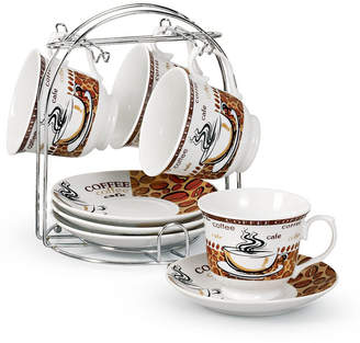 Lorren Home Trends Set of 4 Coffee Cups On Metal Stand