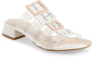 Cecelia New York Lincoln Strappy Clear Slide Sandal