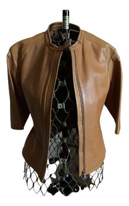 Adolfo Dominguez Camel Leather Jackets