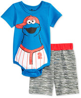 Nannette 2-Pc. Cookie Monster Bodysuit & Shorts Set, Baby Boys (0-24 months)