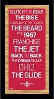 """Steiner Sports Houston Rockets 19"""" x 9.5"""" Vintage Subway Sign"""