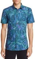 HUGO Empson Palm Leaf Slim Fit Button-Down Shirt