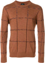 Paul Smith textured crew neck jumper