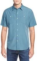 Tommy Bahama Island Modern Fit Microcheck Sport Shirt