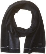 John Varvatos Men's Rib Wool Knit Start Stop Scarf