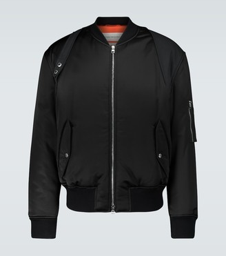 Alexander McQueen Technical-blend bomber jacket