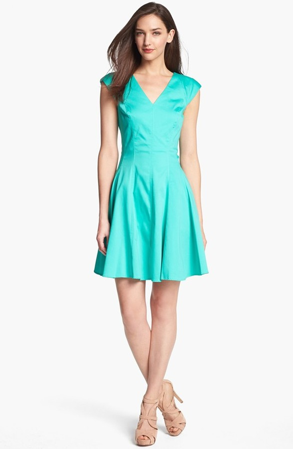 Jessica Simpson Seamed Fit & Flare Dress