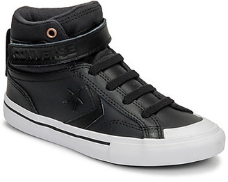 Converse PRO BLAZE STRAP MARTIAN LEATHER HI girls's Shoes (High-top Trainers) in Black
