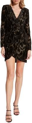 Bardot Ariela Metallic Long Sleeve Minidress