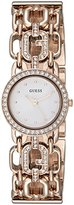 GUESS Women's U0576L3 Feminine Rose Gold-Tone Watch with Genuine Crystals & Self-Adjustable Links
