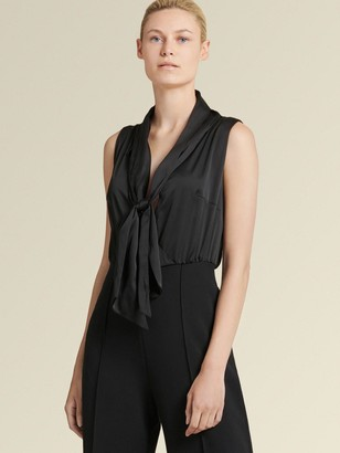 DKNY Sleeveless Tie Front Jumpsuit