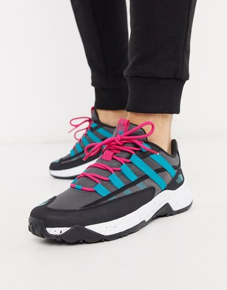 The North Face Trail Escape Crest sneaker in black/turquoise