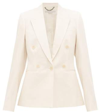 Stella McCartney Double-breasted Wool-twill Jacket - Womens - Cream