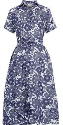 Lisa Marie Fernandez Belted Floral-print Linen Shirt Dress