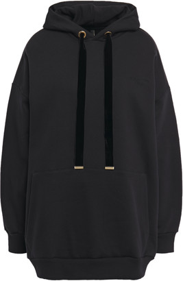 Mother of Pearl Effa Oversized Jacquard-paneled Organic Cotton-fleece Hoodie