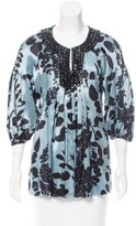 Magaschoni Embellished Printed Top