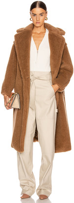 Max Mara Teddy Coat in Camel   FWRD