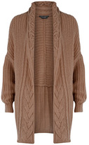 Dorothy Perkins Mink cable cocoon cardigan