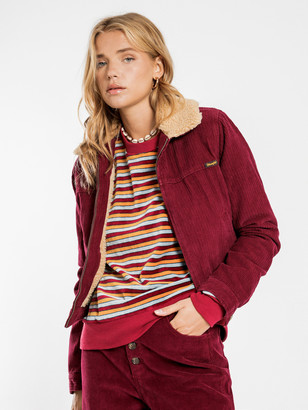 Wrangler Crosstown Jacket in Red Plum