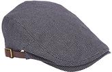 John Lewis Seersucker Flat Cap, Grey