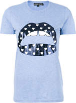 Markus Lupfer metallic lips print T-shirt