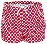 Babes In The Shade Red Polka Swim Short