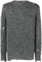 Alexander McQueen distressed jumper - men - Silk/Mohair - M