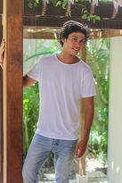 White All Cotton Jersey Founder's T-shirt for Men, 'White Kuta Breeze'