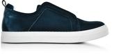 Pierre Hardy Slider Petrol Velvet Sneaker