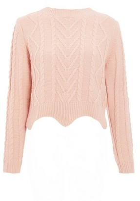 Dorothy Perkins Womens *Quiz Round Neck Cropped Jumper