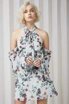 Keepsake TWILIGHT DREAMS MINI DRESS grey garden floral