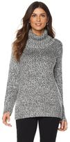 DG2 by Diane Gilman Marled Turtleneck Sweater