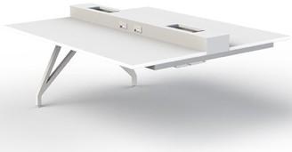 "Scale 1:1 EYHOV Rail Desk Color: White, Size: 29"" H x 63"" W x 60"" D"