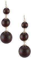 Anna & Ava Jacqueline Wood Ball Triple-Drop Statement Earrings