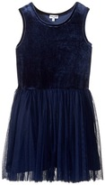 Splendid Littles Velour with Triple Mesh Dress (Big Kids)