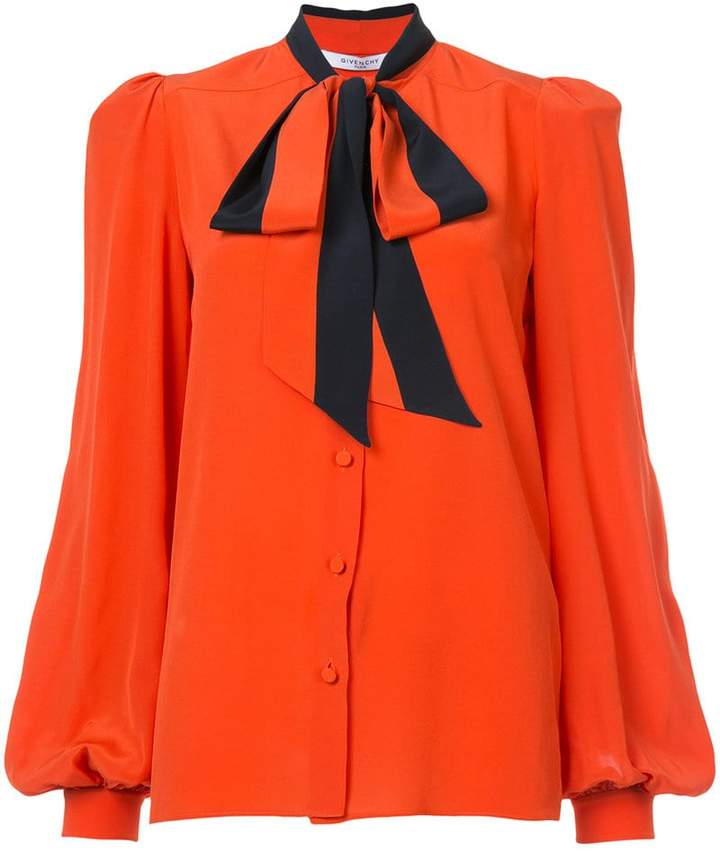 Givenchy neck-tied fitted blouse