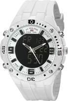 U.S. Polo Assn. Sport Men's US9280 White Analog-Digital Rubber Strap Watch